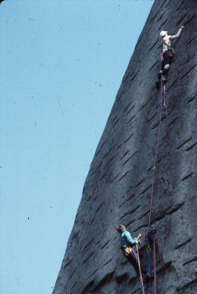 Rock Climbing Photo: Late Great Doc Bayne and Myself on Carolina Hog Fa...