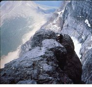 Rock Climbing Photo: High on the North Face 1994.