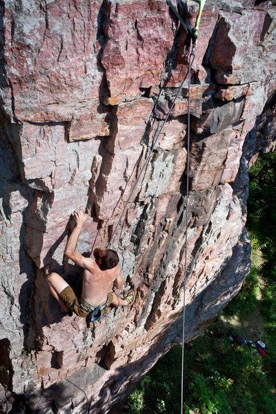 Rock Climbing Photo: Al on The Gambler 09/12/2011