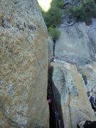 Rock Climbing Photo: P2.the crux
