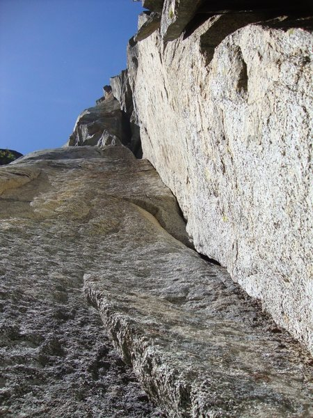 Rock Climbing Photo: Upper part  of pitch 2
