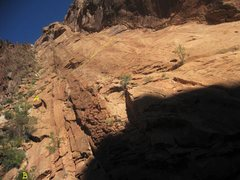 Rock Climbing Photo: The climbs on Long Slab.A) PG Tips 5.9 B)Afternoon...