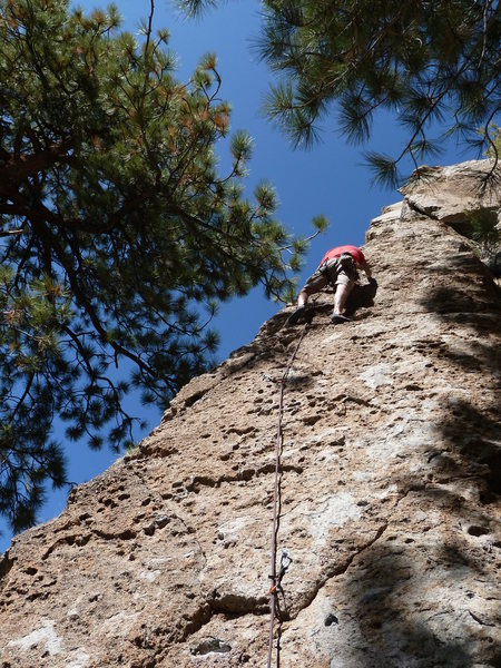 Rock Climbing Photo: The start of Wild Will's Arete (5.8), Clark Canyon