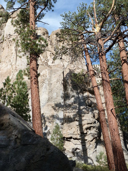 Rock Climbing Photo: Stoned Wheat Thin Cliff (right side) detail, Clark...