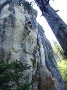 Rock Climbing Photo: BLind faith