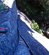 Rock Climbing Photo: Derek following Peanuts (pitch 1).