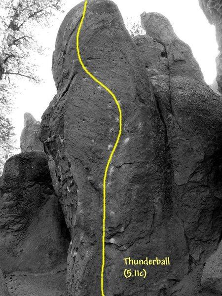 Thunderball (5.11c), Clark Canyon <br>