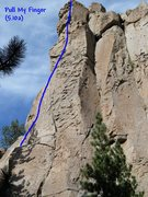 Rock Climbing Photo: Pull My Finger (5.10a), Clark Canyon