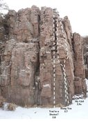 Rock Climbing Photo: Routes on Left Side of Rattlesnake Sam Smolnisky P...