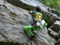 Rock Climbing Photo: On the FA of Bad Religion...