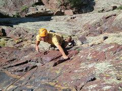 Rock Climbing Photo: Brad White mid-route.