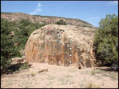 Rock Climbing Photo: Pink route: Dave? Really? Blue route: Thorn in the...