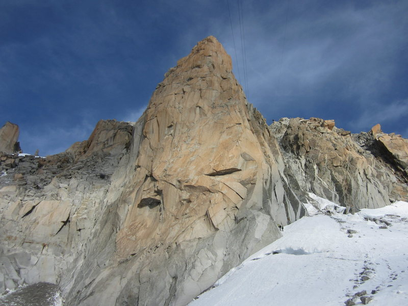 Rock Climbing Photo: The Southeast face of the Aiguille du Midi.