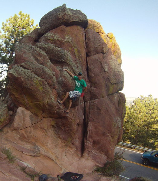 Rock Climbing Photo: Warming up on the Russian Nose.