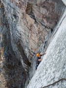 Rock Climbing Photo: feeling around for holds...