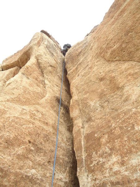 Rock Climbing Photo: Carcass crack. Top rope OW.