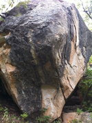 Rock Climbing Photo: Arete is on the right of the boulder.