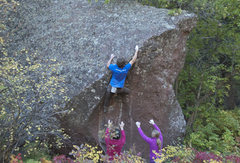 Rock Climbing Photo: Pete is worshipped by the ladies on Hydrahedral, V...