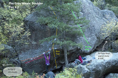 Rock Climbing Photo: This is looking south from around the base of Thou...
