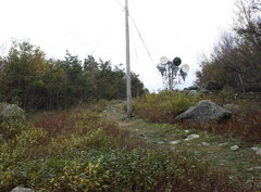 Rock Climbing Photo: looking back up trail towards radio towers right b...