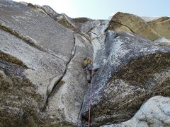 Rock Climbing Photo: Most sandbagged 10a if you are vertically challeng...