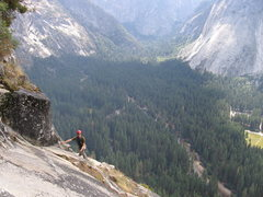 Rock Climbing Photo: My partner Jeff on Pitch 15 of the Royal Arches.