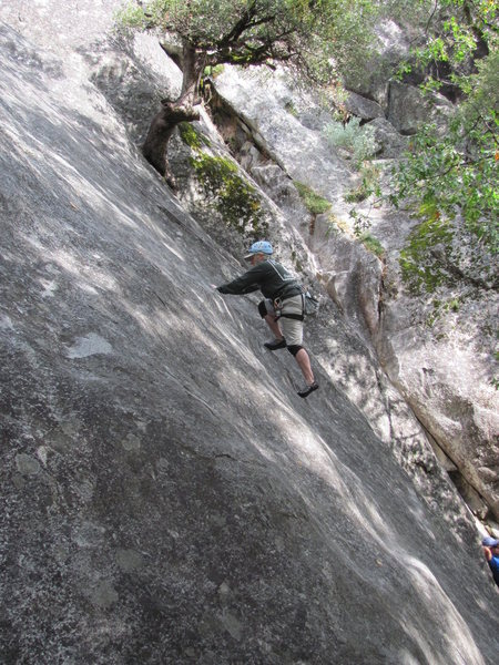 Rock Climbing Photo: Susan on a 5.7 line, West Slabs.