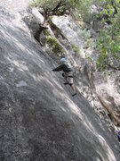 Rock Climbing Photo: Susan on a 5.7 line, West Slabs.