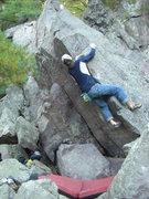 Rock Climbing Photo: Near the finish.