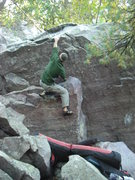 Rock Climbing Photo: Mike to the lip.