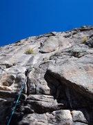 Rock Climbing Photo: Gordon near the crux.