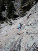 Rock Climbing Photo: Gordon pulling the roof on P2, which felt much eas...