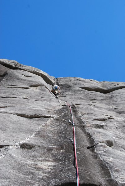 Frost Walker about to crux on Pt4 Oasis.