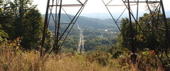 Rock Climbing Photo: looking back towards Crozet when first get on righ...