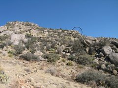 Rock Climbing Photo: When the ridge levels off for a short while, this ...