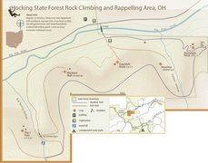 Great map of the Hocking Hills area with access details.