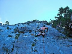 Rock Climbing Photo: Jeremy Ashton on the third pitch of Evil Shenaniga...