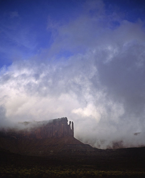 Rock Climbing Photo: Islet in the Sky, clearing storm.