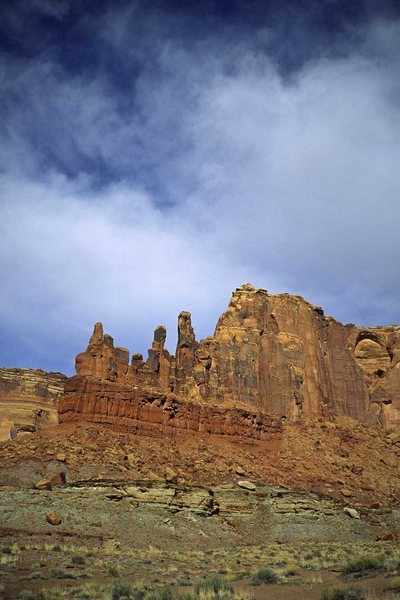 Rock Climbing Photo: Charlie Horse Needle, from the west. Climb is on t...