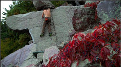 Rock Climbing Photo: Topping out on the slab