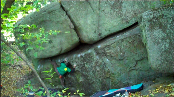 Rock Climbing Photo: Some of the harder moves