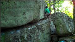 Rock Climbing Photo: The fun topout