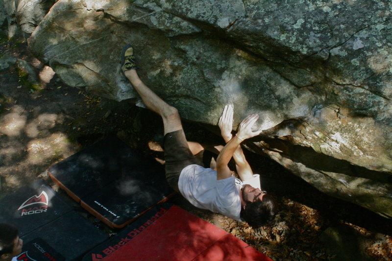 Rock Climbing Photo: Al on the sit down traverse