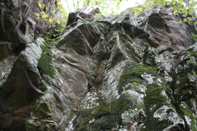 Rock Climbing Photo: traverse section of Thin Blue Flame