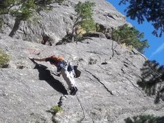 Rock Climbing Photo: Myself leading P1 of Deserted Cities of the Heart ...