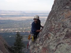 Rock Climbing Photo: Trevor high on Deserted Cities. September 23, 2011...