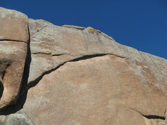 Rock Climbing Photo: Can you see the line?  Arch Stanton.