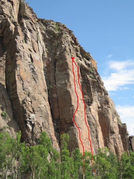 Rock Climbing Photo: Star of Astoroth right line. Shere Khan left. View...