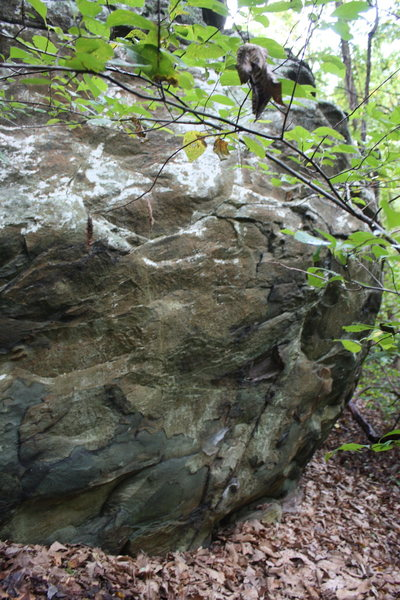 Rock Climbing Photo: left half/start of problem