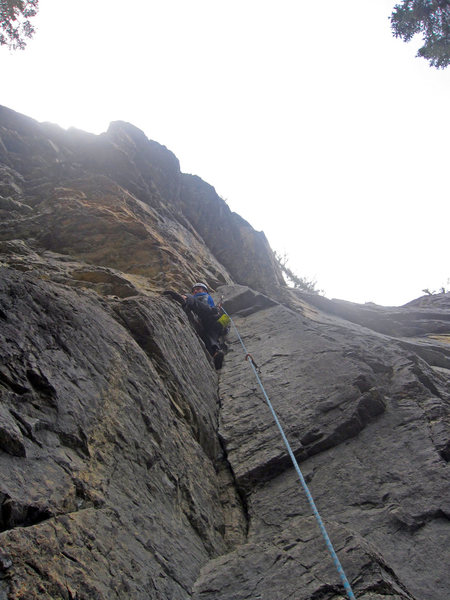 Rock Climbing Photo: Green Piton.